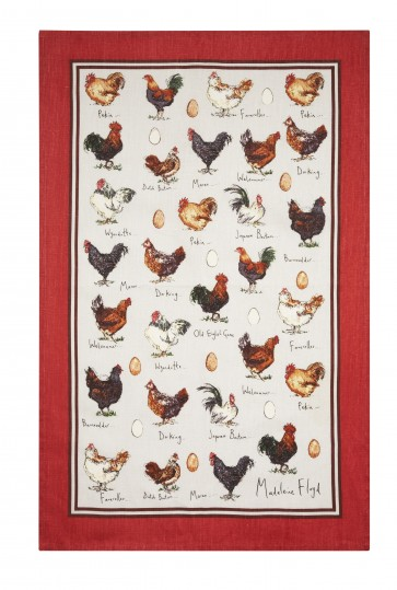 Ulster Weavers Madeleine Floyd Chicken and Egg Linen Tea Towel