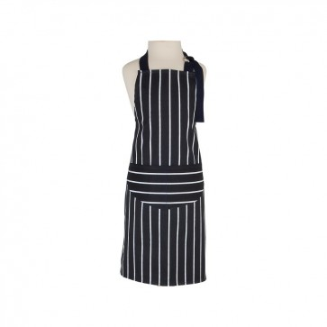 Printed Butchers Stripe Children's Apron, Navy by Rushbrooke