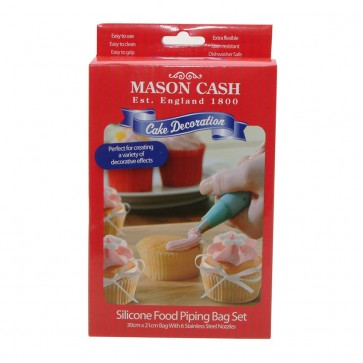 Silicone Icing Bag with 6 Piping Nozzles for Cake Decoration from Mason Cash