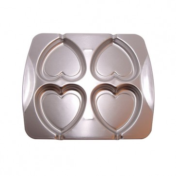 Heart Aluminium Cookie Pop Tin