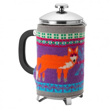 Fair Isle Fox Knitted Cafetiere Cosy by Ulster Weavers