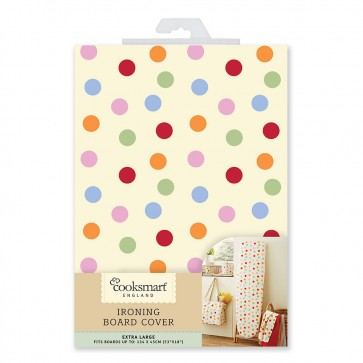 Cooksmart Extra Large 134 x 45cm Ironing Board Cover, Multi Spots