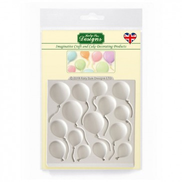 Balloons Sugarcraft Silicone Mould - Katy Sue Designs