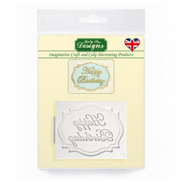 Happy Birthday Mini Plaque Katy Sue Designs Silicone Mould