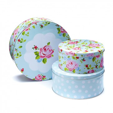 Cooksmart Cake Tins, Set of 3, Vintage Floral