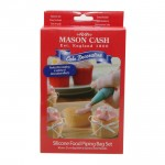 Silicone Icing Bag and 6 Nozzle Set for Cake Decoration from Mason Cash