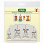 Christmas Bells - Silicone Mould Katy Sue Designs for Clay, Cake Decorating and Sugarcraft