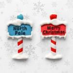 Christmas Sign Posts Katy Sue Designs Silicone Mould for Cake Decorating Cupcakes Sugarcraft and Candies