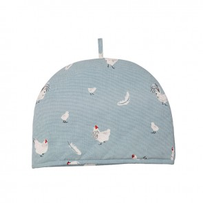 Dexam Rushbrookes Pecking Order 2 Cup Tea Cosy Blue