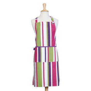 Rushbrookes Regatta Apron - Purple Stripe