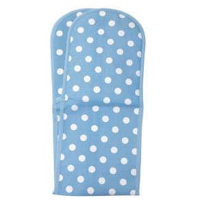 Rushbrookes Flamenco Double Oven Glove Blue