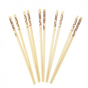 Swift Bamboo Chopsticks with Dragon Print, Pack of 10 Pairs