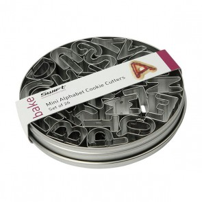 Dexam Mini Alphabet Cookie Cutters - Set of 26