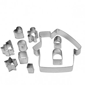 Dexam Make & Bake Gingerbread House Cookie Cutter Kit - 10 pieces