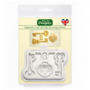 Decorative Keys and Locket Embellishment- Silicone Mould