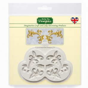 Leaf Flourish Silicone Mould Katy Sue Design