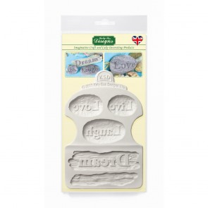 Dream Driftwood and Word Stones Silicone mould Katy Sue Designs
