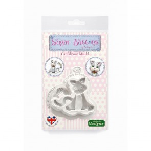 Cat Silicone Mould Katy Sue Designs Sugar Buttons