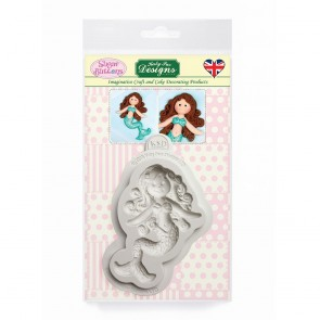 Little Mermaid Sugar Buttons Silicone Mould Katy Sue Desgins