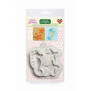 Starfish and Seahorse Sugar Buttons Silicone Mould Katy Sue Designs