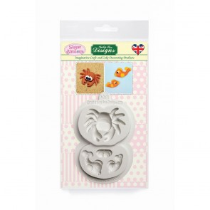 Crab and Fish Sugar Buttons Silicone Mould Katy Sue Designs