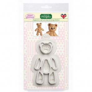 Katy Sue Stitched Teddy Bear Sugar Buttons Mould