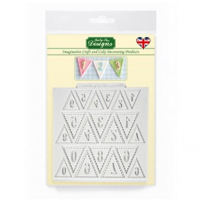 Bunting Numbers Katy Sue Designs Silicone Mould for Cake Decorating Cupcakes Sugarcraft and Candies