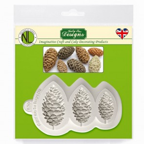 Pine Cones Katy Sue Designs Silicone Mould for Cake Decorating Cupcakes Sugarcraft and Candies