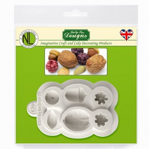 Nuts and Berries Katy Sue Designs Silicone Mould for Cake Decorating Cupcakes Sugarcraft and Candies