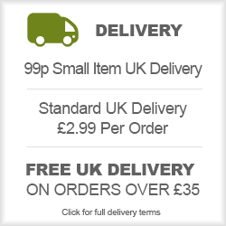 Delivery From 99p - £2.99 Std Delivery - Free over £35